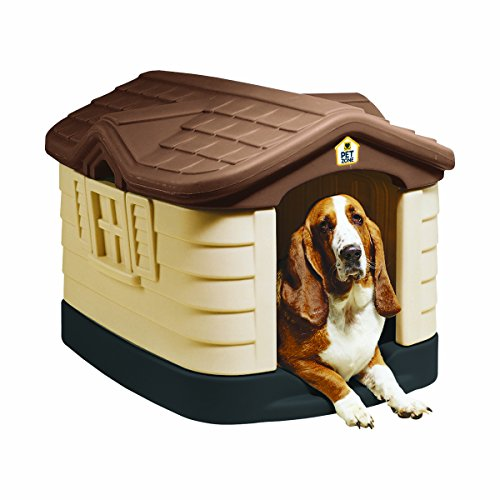 Pet Zone Cozy Cottage Durable Plastic Dog House by Pet Zone