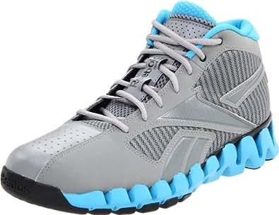 Reebok Men's Zigfury Basketball Shoe,Grey/Blue/Grey/Black,4 M US