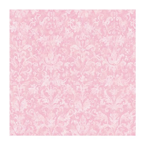 York Wallcoverings YK0180SMP York Kids IV Distressed Damask Wallpaper Memo Sample, 8-Inch x 10-Inch ()