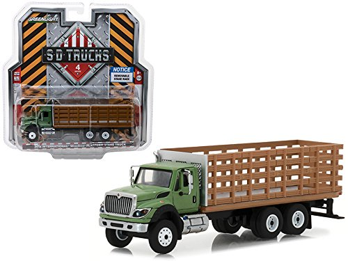 2018 International WorkStar Platform Stake Truck with Wood Effect S.D. Trucks Series 4 1/64 Diecast Model by GreenLight 45040B