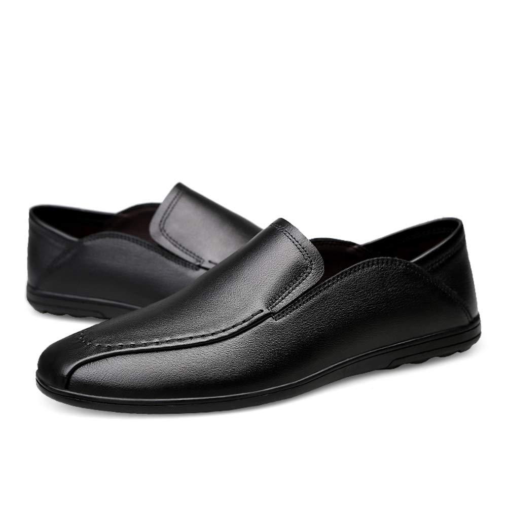 Shuo lan hu wai Männer Fahren Loafers für Bequeme und atmungsaktive weiche Reine Farbe Stiefel Mokassins,Grille Schuhe (Farbe   Braun, Größe   44 EU)  | Realistisch