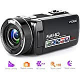 """Camcorder Digital Camera Full HD 1080p 18X Digital Zoom Night Vision Pause Function with 3.0"""" LCD and 270 Degree Rotation Screen with Remote Controller …"""