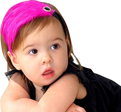 Baby Girls Headbands Lace Feather Butterfly Head Flower