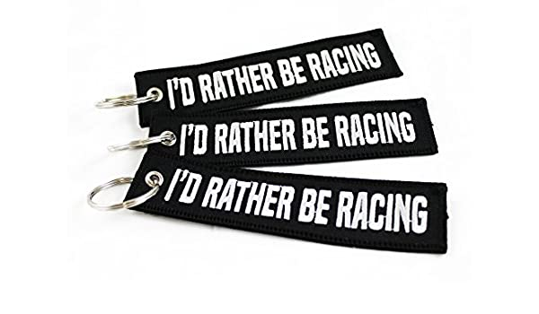 CG KeyTags ID Rather Be Racing - Llavero para Coche, Moto ...