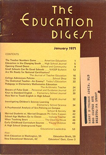 The Education Digest: January 1971, Volume XXXVI, Number 5