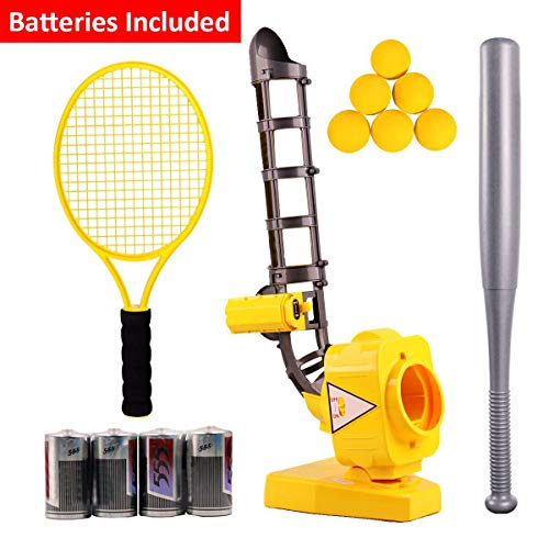 DEVAN Baseball Tennis Pitching Gaming Machine Toys, Training Sports ,Gym,Early Development Toys Outdoors Sports Gaming for Kids and Toddlers.(Batteries Included)