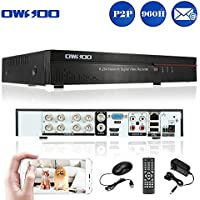OWSOO 8 Channel DVR Full 960H/D1 H.264 P2P Network CCTV Security Phone Control Motion Detection Email Alarm for Surveillance Camera
