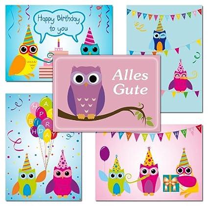 10 tarjetas postales Búhos Tarjetas de cumpleaños