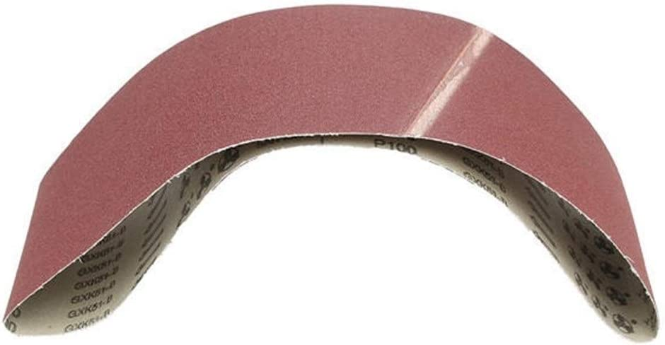 Be82aene 3Pcs 6X48 Pouce Ceintures De Pon/çage Ceintures De Pon/çage Abrasives Oxyde Daluminium 100 Effet est Plus Fin