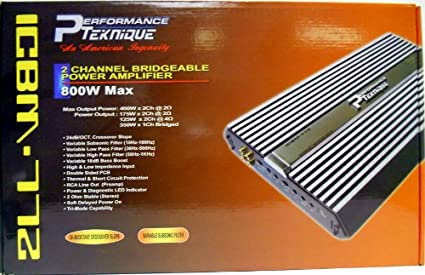 Performance Teknique ICBM-772 800-watt 2-Channel Car Audio Amplifier