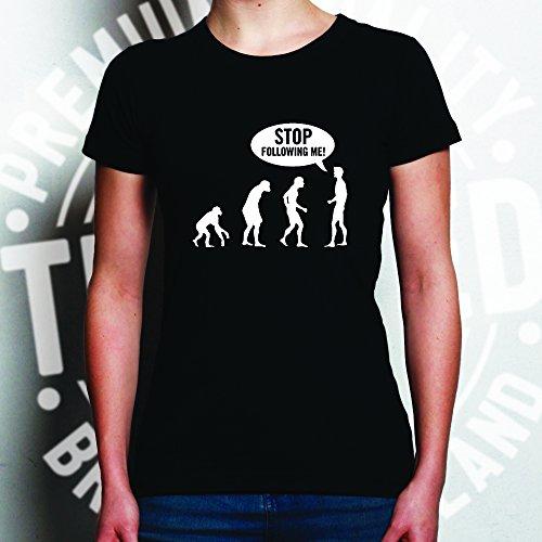 Tim and Ted Smettere di seguito Me divertenti Darwin teoria dell'evoluzione Parodia Men T-Shirt Da Donna