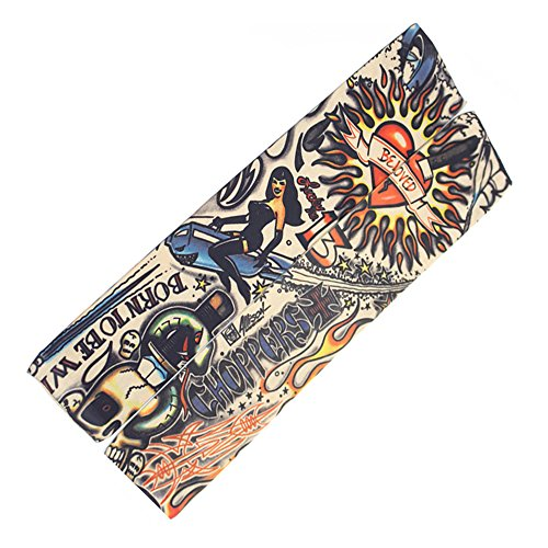 Actual Anime Tattoo Arm Sleeve Men and Women Protection Breathable Outdoor Basketball Sports Wrist Sunscreen Keep Warm Fishing (Calvin And Hobbes Halloween Costume Comic)