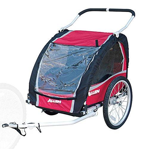 Allen Sports Premium Aluminum 2 Child Bicycle Trailer and St