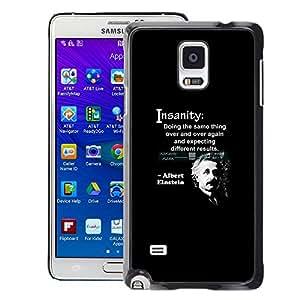 A-type Arte & diseño plástico duro Fundas Cover Cubre Hard Case Cover para Samsung Galaxy Note 4 (Albert Einstein Quote Science Scientist)