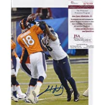 CLIFF AVRIL Signed SEATTLE SEAHAWKS vs Peyton Manning 8x10 photo + W792368 - JSA Certified - Autographed NFL Photos