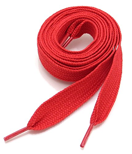 Thick Fat Shoelaces for Sneakers, Boots and Shoes by Ti Shoe Laces - Chose your colors (Red)