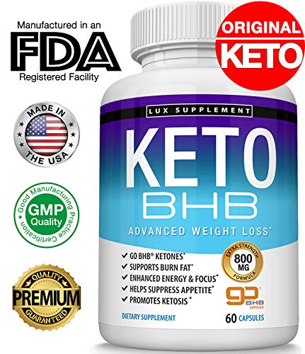 Keto Pills Advanced Weight Loss BHB Salt - Natural Ketosis Fat Burner Using Ketone & Ketogenic Diet, Boost Energy While Burning Fat, Fast & Effective Perfect for Men Women, 60 Capsules, Lux Supplement (The Best Weight Loss Pills 2019)