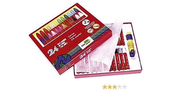 Liderpapel - Bd03 Pack De 24 Lápices De Cera Blanda: Amazon.es: Oficina y papelería