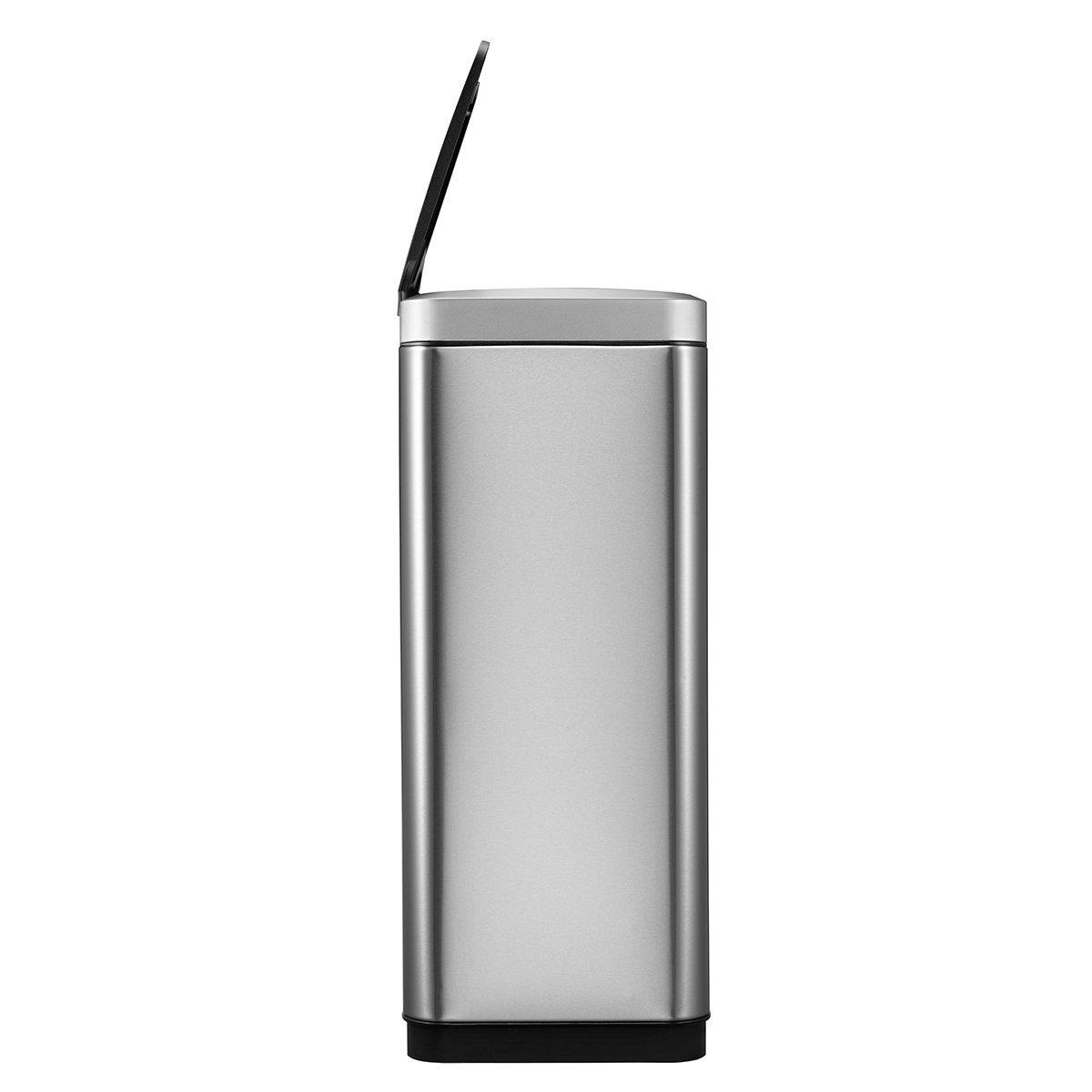Amazon.com: EKO Mirage 50 Liter / 13.2 Gallon Rectangular Motion Sensor Trash Can, Stainless Steel: Home & Kitchen