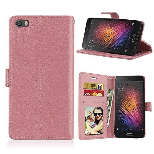 Funda Xiaomi MI 5, Ecoway [3 ranuras para tarjetas] Serie retro Cuero de la Scrub PU Leather Cubierta, Función de Soporte Billetera con Tapa para Tarjetas Soporte para Teléfono para Xiaomi MI 5- A-2 A-8