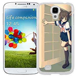 Popular And Unique Designed Cover Case For Samsung Galaxy S4 I9500 i337 M919 i545 r970 l720 With Anime Girl Cat Tail Creature white Phone Case