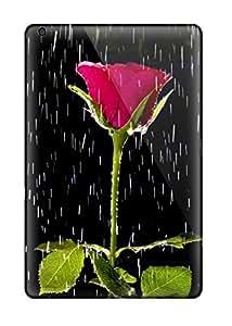 New Cute Funny Rose And Rain Nature Flower Case Cover/ Ipad Mini/mini 2 Case Cover