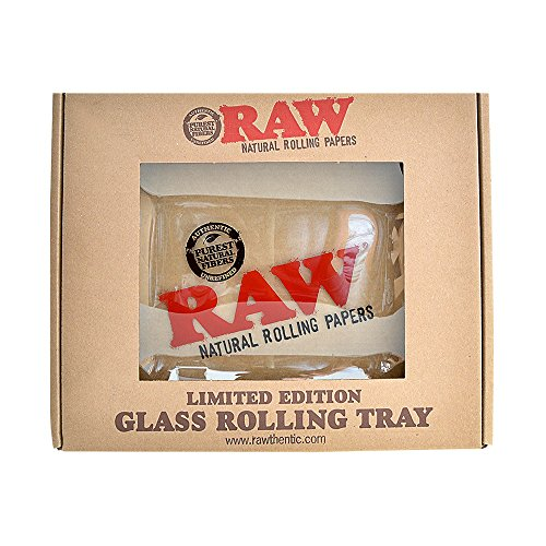 RAW Glass Rolling Tray - Limited Edition Large from RAW Rolling Papers by RAW, ES Distributions (Image #2)