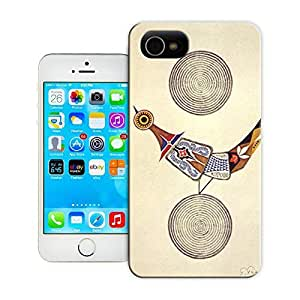 Unique Phone Case Japanese artist Takeo Takei creates an unusual illustration of a bird on earth beneath the moon 643x970 Hard Cover for iPhone 4/4s cases-buythecase