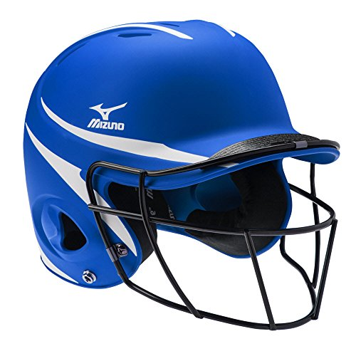 Mizuno MVP Batter's Helmet with Fastpitch Facemask, Royal/White, Small/Medium