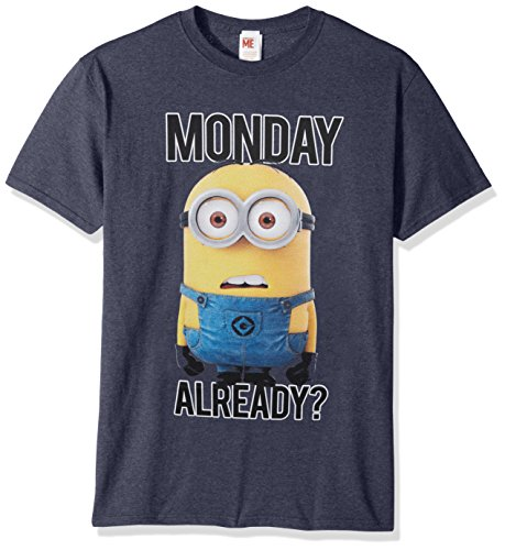 Despicable Me Mens Minions Dave Monday Already Wha Funny Graphic Tee