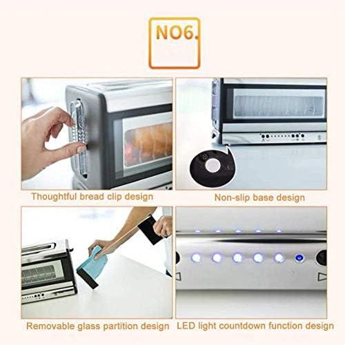 Automatische Ontbijt Machine Stainless Steel Broodrooster, Six-Speed Adjustment Top Grill Ontwerp Verbreding Trough Visualization Window broodbakmachine SLONGS