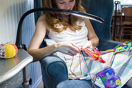Stella Lighting Stella EDGE Clamp Light (Black), LED Task Lamp by Stella Lighting (Image #7)