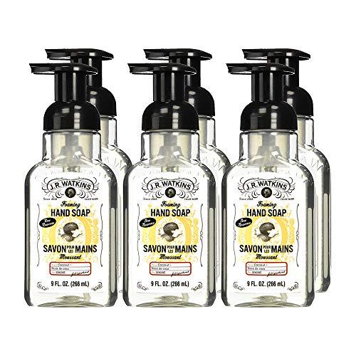 J.R. Watkins Hand Soap, Foaming, 9 fl oz, Coconut (6 pack)