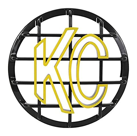 KC HiLiTES 72101 Black ABS Stone Guard (with Yellow KC Logo for 6