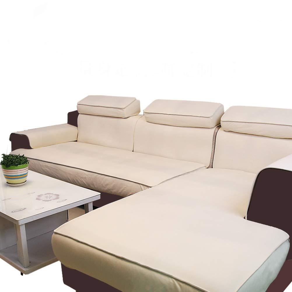 YYJDGXXCP Europäische Wasserdicht Wasserdicht Wasserdicht Leder Sofabezug Matten Anti-rutsch Sofa dämpfung Pad Volltonfarbe Sofa-Überwürfe Keine wäsche Couch-abdeckungen Für Wohnzimmer-Beige 80x180cm(31x71inch) B07JMRWYN5 Sofa-überwürfe 1f14c9