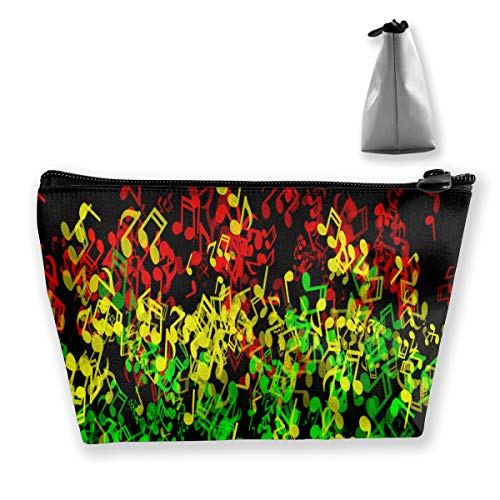 Rasta Reggae Music Storage Bag Organizer Portable Gift for Girls Women Large Capacity Travel Makeup Train Case for Makeup Brushes Digital Accessories Lazy Tote ()
