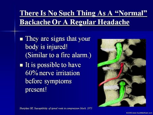 CHIROPRACTIC - Living With a HEALTHY BACK Powerpoint Lecture - 54 Slides ()