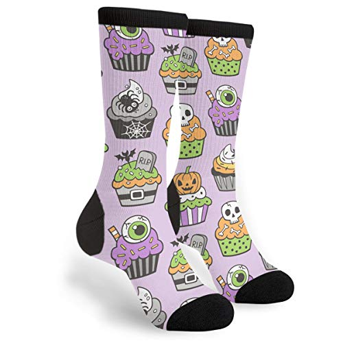KSSChr Men Women Classic Crew Socks Halloween Fall Cupcakes Classics Personalized Socks Sport Athletic -