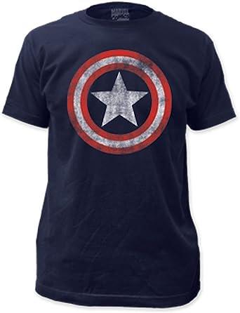 Shield Logo Avengers Superhero Inspired Mens Longsleeve Tee