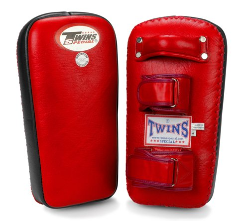 Twins Special Muay Thai Pad w/ Velcro (Red Black) (XL)
