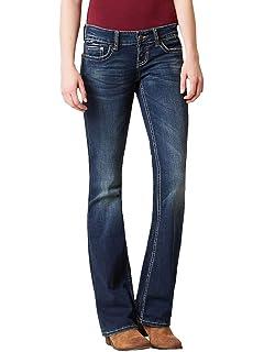 7245d670503 Taoliyuan Womens Bootcut Jeans Skinny Stretchy Workout Denim Jean Flare  Bell Bottom Pants