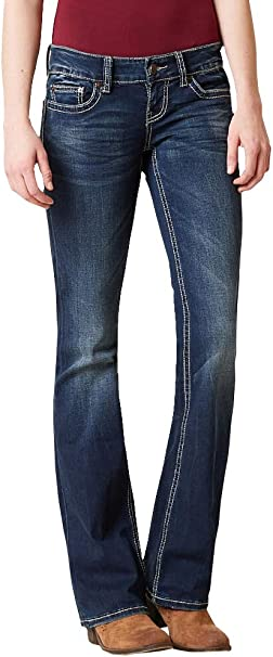 Stretchy Straight Leg Jeans Mid Rise Soft Black Wash Size 10