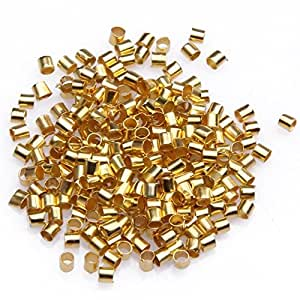 Amazon.com: Beautiful Bead 2mm Golden Tube Crimp Beads for