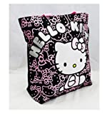 Cheap Hello Kitty Black Tote Bag Kitty Sitting