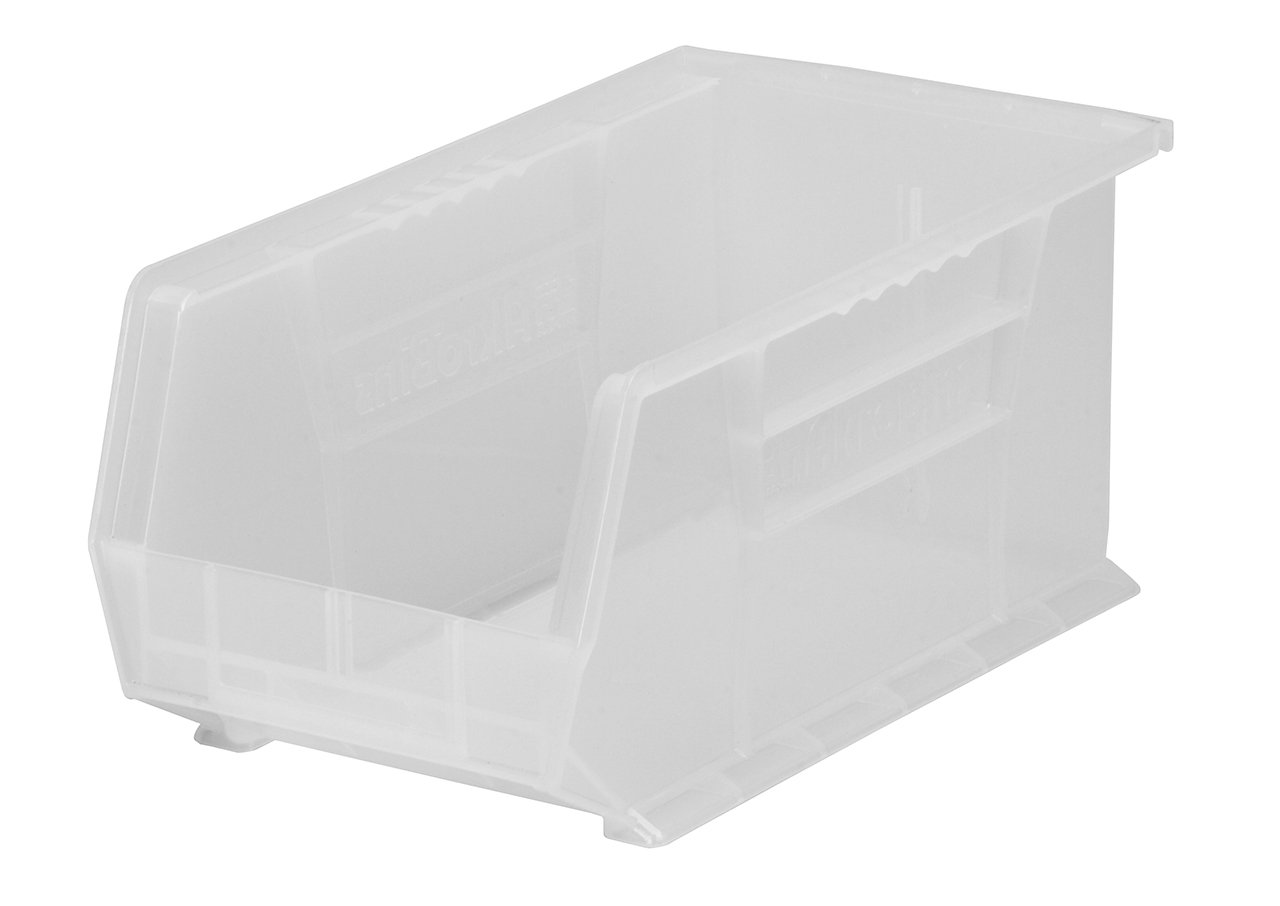 Akro-Mils 30234 Plastic Storage Stacking AkroBin, 15-Inch by 5-Inch by 5-Inch, Clear, Case of 12