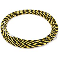 uxcell 49 Feet (15M) Polyester Fish Tape Dia 0.24in (6mm) Electrical Wire Threader Cable Running Rods Fish Tape Pulling