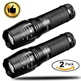 Captink T8 Tactical Flashlight, LED Flashlight 600 Lumen 5Modes (2Pack)