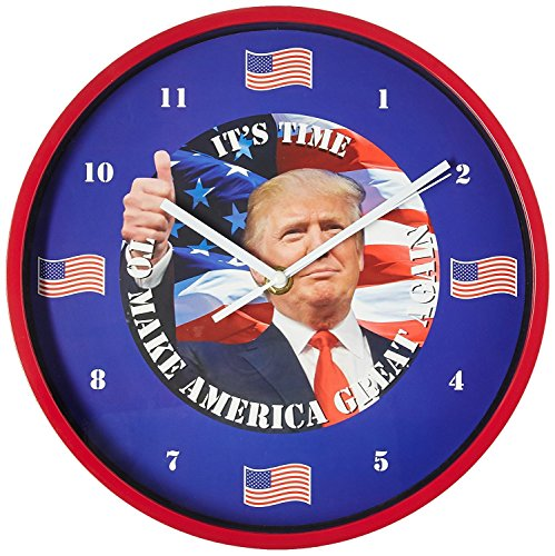 As Seen On TV E-0722 President Trump Talking Clock, 10 in. Diameter