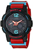 G-Shock Womens BGA180 Glide with Tide Graph Baby-G Series Designer Watch - Red/Black / One Size