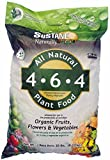 Sustane All Natural Flower and Vegetable Plant Food, 20-Pound